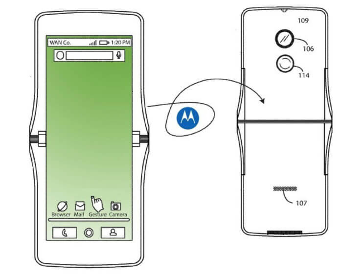 """""""Motorola"""" taip pat skiria dėmesį lankstomo telefono gamybai, tačiau kompanija naudos kitokį dizainą"""